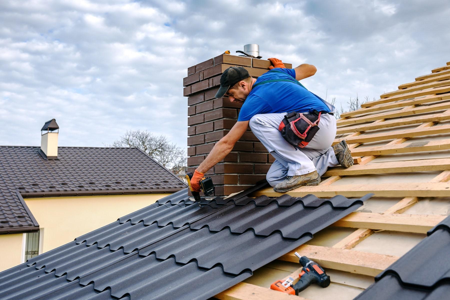 rénovation d'une toiture métallique